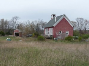 Schoolhouse from east April 2012