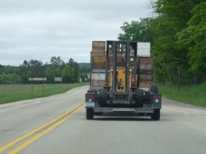 Langstroth hive hauling