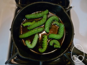 Frying hornworms